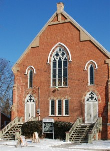 photo of church front, cropped